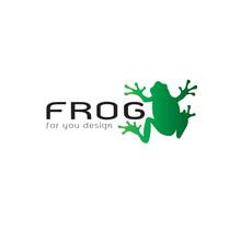 Vector Of Frog Design On White Background. Amphibian. Animal. Frog Logo Or Icon. Easy Editable Layered Vector Illustration.