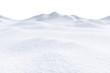 Leinwanddruck Bild - Snow hills isolated on white background