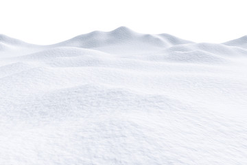 Snow hills isolated on white background