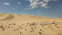 Off Highway Vehicles And Dune Buggies At Oldsmobile Hill In The Glamis Sand Dunes, Aerial