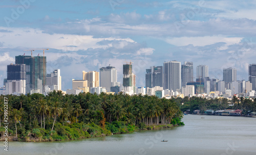 Canvas Prints Palm tree Vietnam Nha Trang, March of 2019, the view of the city from the far