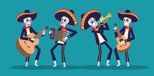 Dia De Los Muertos Card With M...