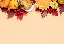 Thanksgiving Day Fall Backgrou...