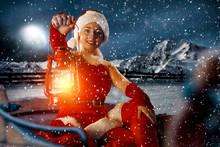 Santa Claus Woman And Winter T...