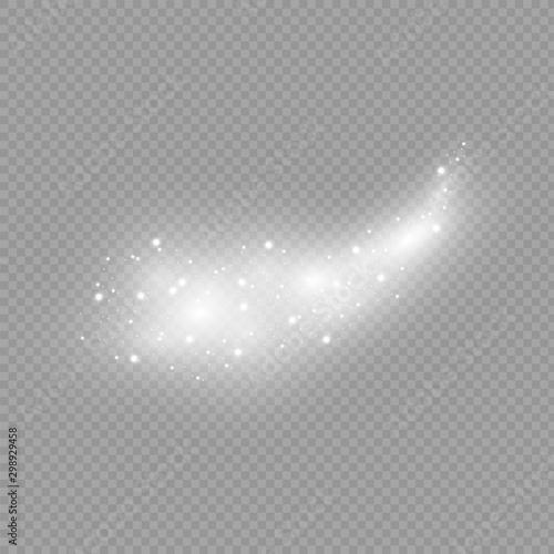 Fotografía  Comet on a transparent background