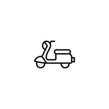 Scooter, Moped Icon Vector Illustration