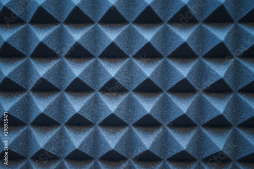 Foam material specifically for the walls of a recording studio Fototapet