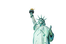 The Statue Of Liberty Isolated On White Background