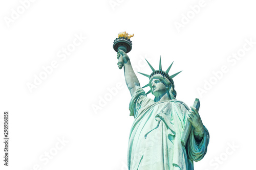 Fotografie, Tablou  The Statue of Liberty isolated on white background