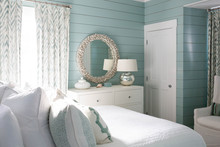 Modern Beach House Bedroom Wit...