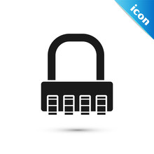 Black Safe Combination Lock Ic...