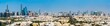 Panoramic view of Abu Dhabi downtown skyline in the UAE capital