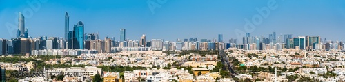 Panoramic view of Abu Dhabi downtown skyline in the UAE capital Canvas Print