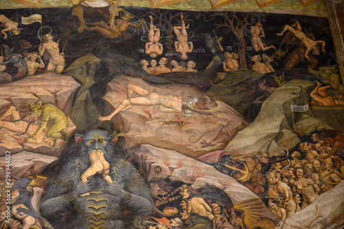 Fototapeta Fresque intérieure basilique de San Petronio