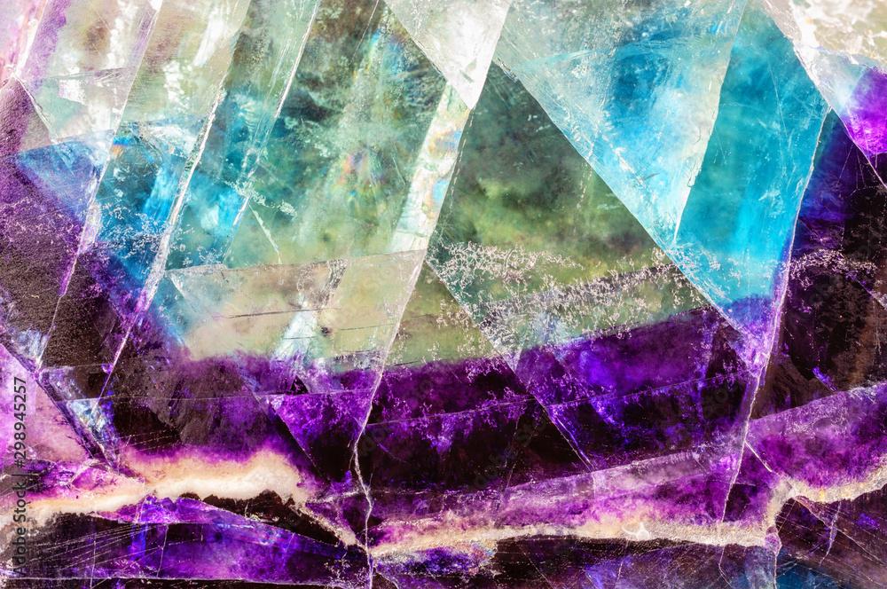 Fototapeta Fluorite texture background.