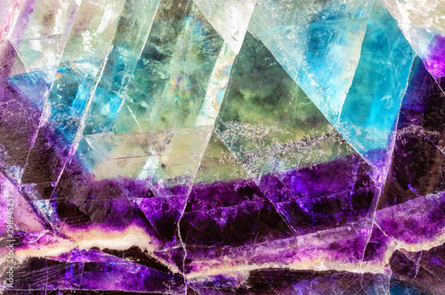 Fluorite texture background. Fototapet