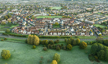 SWINDON UK - October 26, 2019: Aerial View Of  Moredon In Swindon, Wiltshire