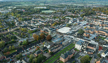 SWINDON UK - October 26, 2019: Aerial View Of  The Old Town Area In Swindon, Wiltshire