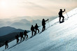 Leinwanddruck Bild - professional hiking and event success ;special to World mountaineering day event