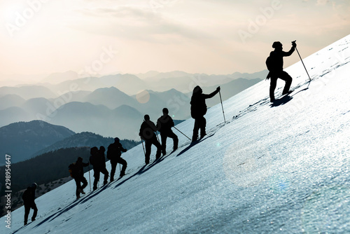 Fotografie, Obraz professional hiking and event success ;special to World mountaineering day event