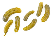 Pickled Cucumbers Isolated On ...