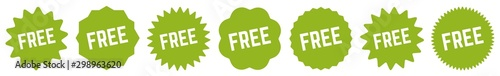 Free Tag Green Eco | Special Offer Icon | Sticker | Deal Label | Variations