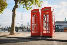 Two London Telephone Boxes On ...