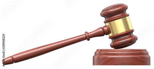 Wooden Handcrafted Wood Gavel Hammer With Sound Block for Lawyer Judge Auction Sale Canvas Print
