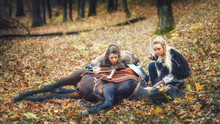 Viking Warrior Women Hiding An...