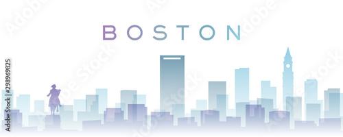 Tela Boston Transparent Layers Gradient Landmarks Skyline