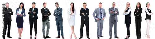 Cuadros en Lienzo group of successful business people isolated on white