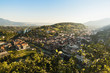 canvas print picture - Stadt Feldkirch bei Sonnenaufgang