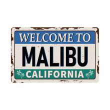 Malibu Beach, California Retro...