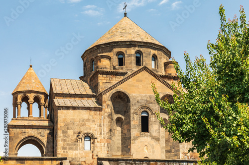 Armenia. Armavir Province. Vagharshapat.  Exterior view of the Saint Hripsime Church.
