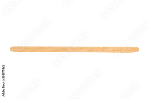 Obraz na plátně  disposable coffee wooden stir stick isolated on a white background