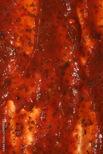 Cuadros en Lienzo  Texture of tomato paste