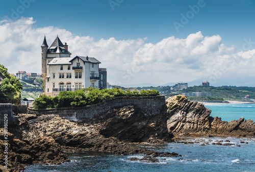 Typical house of the city of Biarritz on the Atlantic coast Canvas Print