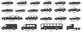 Car body types vector illustration
