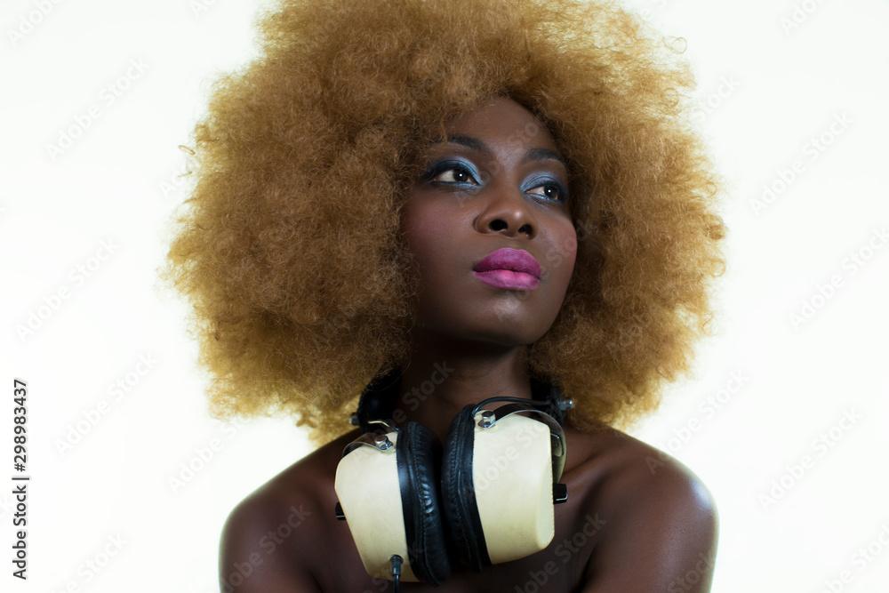 Fototapety, obrazy: beautiful sexy disco dj woman