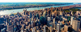 Fototapeta Nowy Jork - Aerial view of Manhattan New York from Midtown