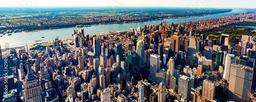 Fototapeta Aerial view of Manhattan New York from Midtown obraz