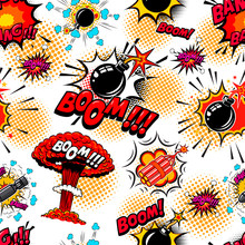 Seamless Pattern With Comic St...