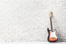 Modern Bass Guitar Near White ...