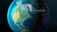 Canada - Natashquan - Zooming From Space To Earth