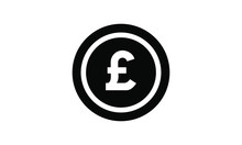Coin Pound Sterling Icon Vector