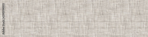 Obraz  Natural Gray French Linen Texture Border Background. Old Ecru Flax Fibre Seamless Pattern. Organic Yarn Close Up Weave Fabric Ribbon Trim Banner. Sack Cloth Packaging, Canvas Edging. Vector EPS10 - fototapety do salonu