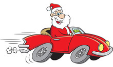 Cartoon Illustration Of Santa ...