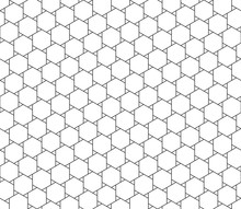 Abstract Seamless Geometric Pattern, Black And White Outline Of Hexagons With Small Triangle Shape . Design Geometric Texture For Print. Linear Style, Vector Illustration