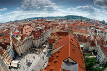 View Of Historical Center Of Prague From Old Town Hall. Prague, Czech Republic