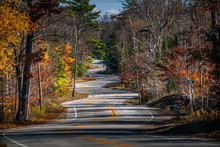 Zig Zag Road In Door County, W...